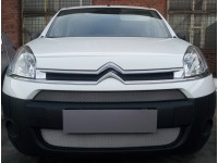 Защита радиатора Citroen Berlingo 2013- рестайлинг (2 части) хром