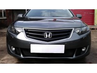 Защита радиатора Honda Accord VIII 2008-2011 черная