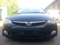 Защита радиатора Honda CIVIC 4D VIII 2006-2009 черная