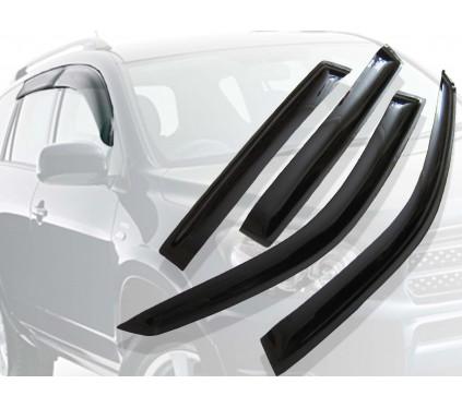 Ветровики окон Renault Megan 03-09, SD, 4ч, темный